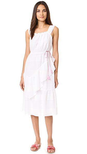 Club Monaco Boutone Dress In White