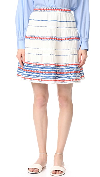 Club Monaco Ploye Skirt - Cream
