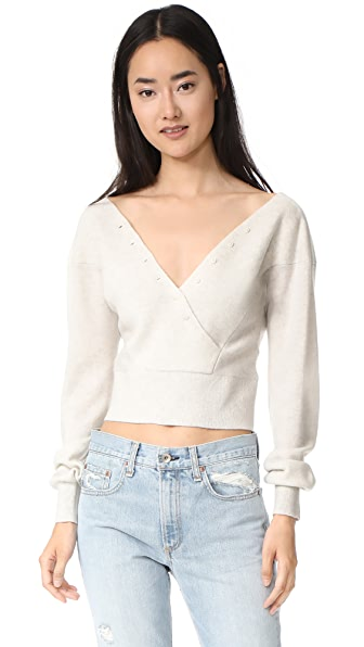 Club Monaco Vindaya Cashmere Sweater - White Noise