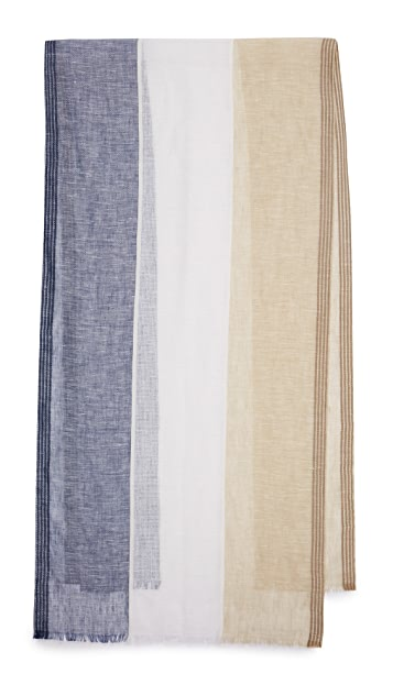 Club Monaco Gauze Colorblock Scarf