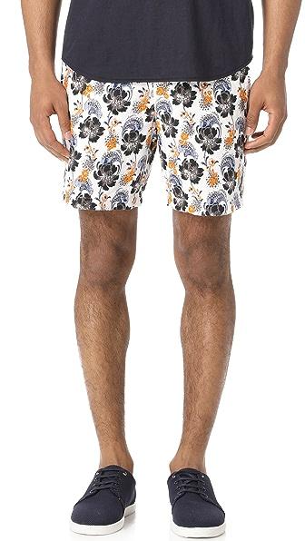 Club Monaco Muki Floral Embroidered Baxter Shorts