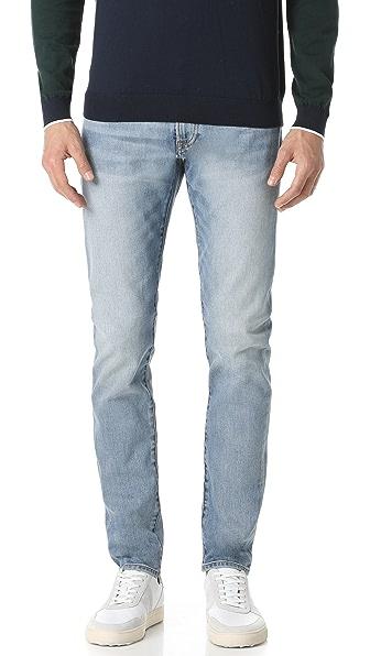 Super Slim Vintage Wash Denim Jeans