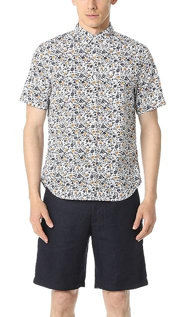 Club Monaco Short Sleeve Button Down Floral Shirt