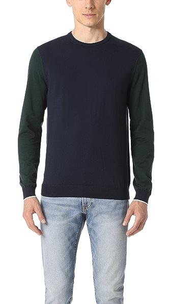 Club Monaco Colorblock Crew Sweater