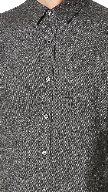 Club Monaco Long Sleeve Slim Jaspe Shirt