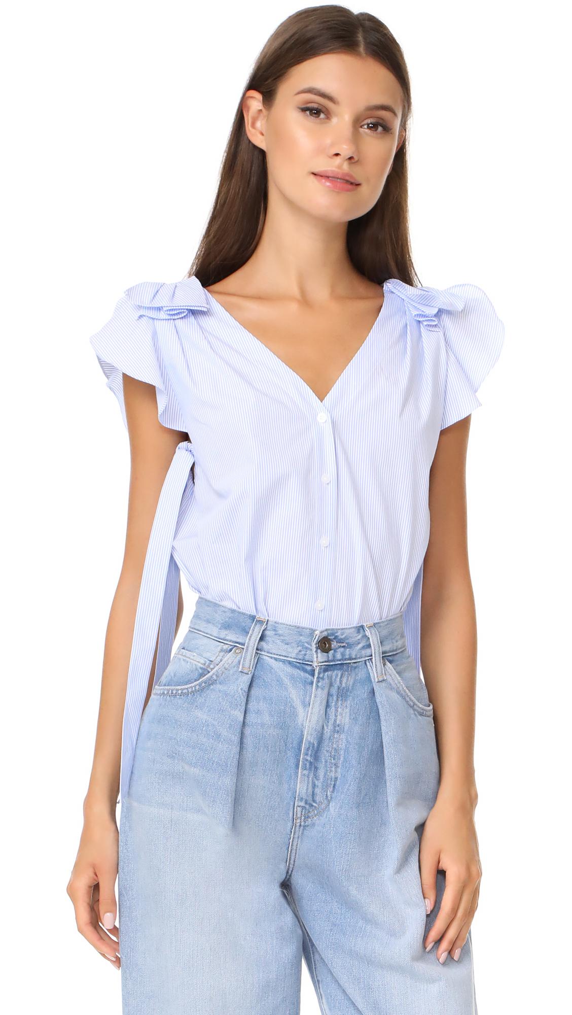 Club Monaco Stonli Shirt - Blue/White