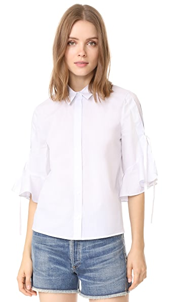 Club Monaco Rimber Top - Blue/White Stripe