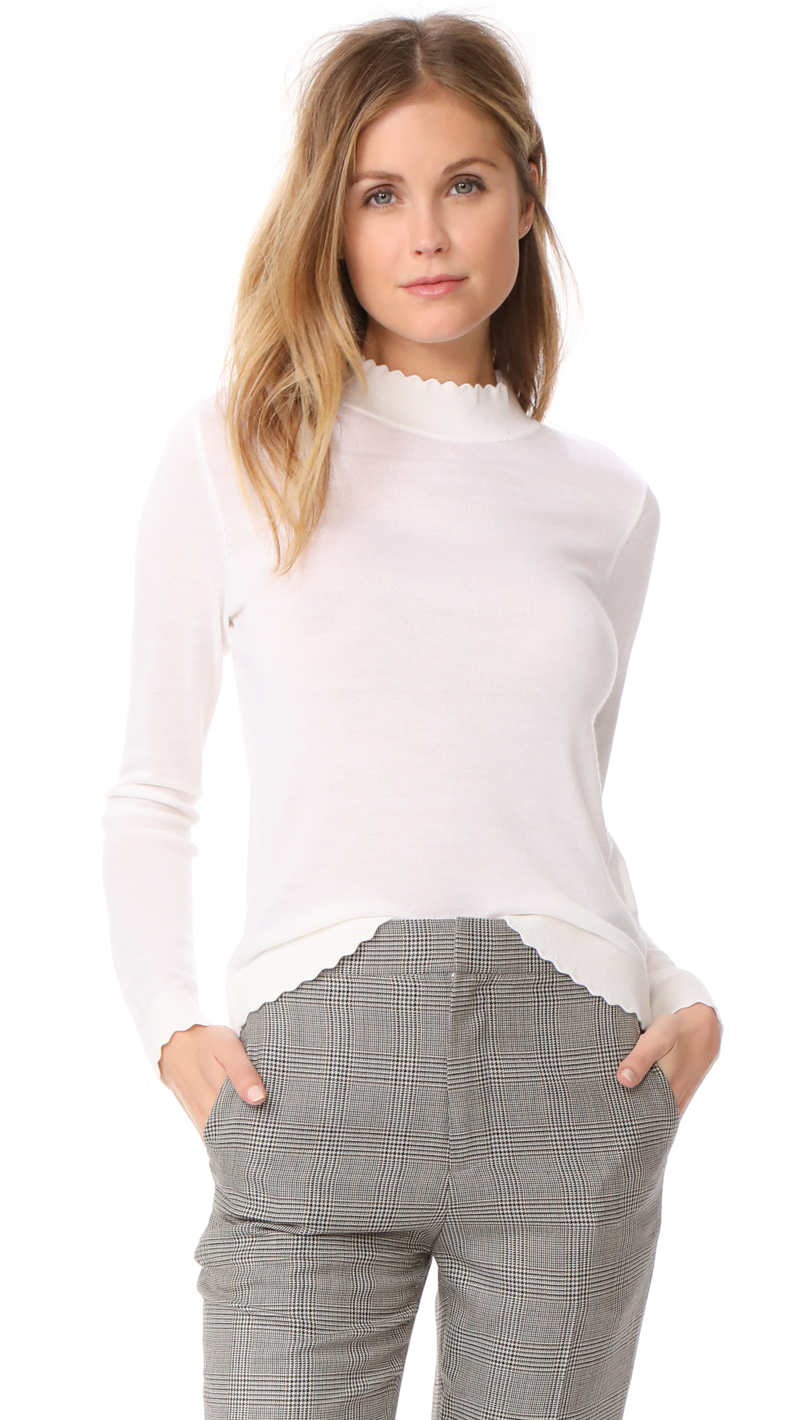 Club Monaco Archibelle Sweater - Blanc De Blanc