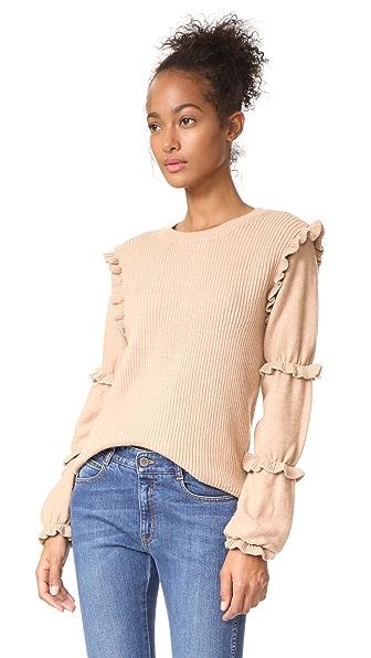 Club Monaco Sabella Sweater In Iced Latte