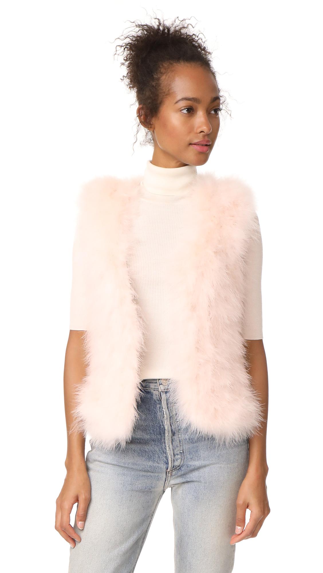 Club Monaco Violet Vest - Pale Pink