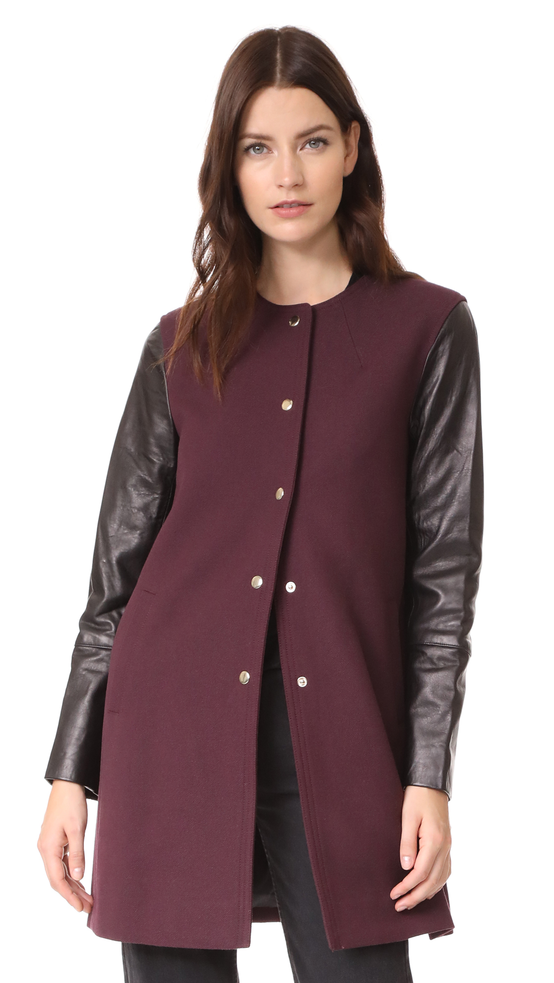 Club Monaco Wioletta Coat - Burgundy