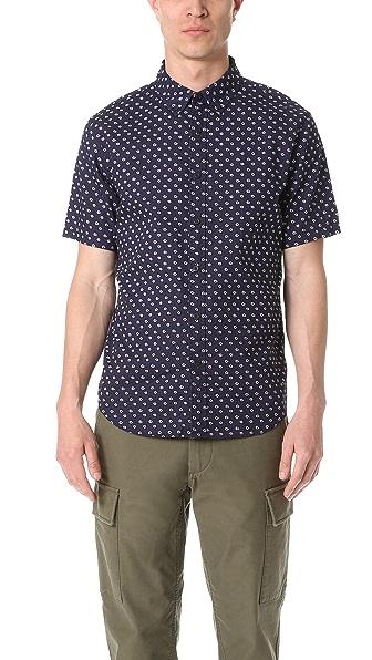 Club Monaco Short Sleeve Gypsy Floral Shirt