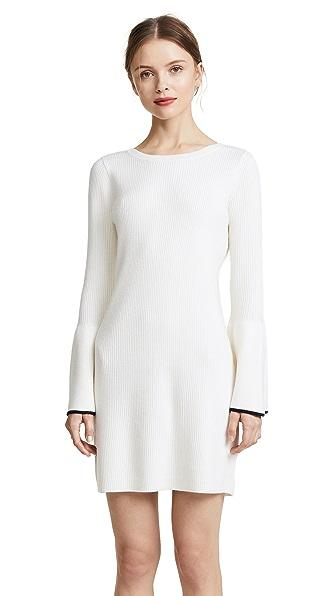Club Monaco Wioletta Tipped Dress In White