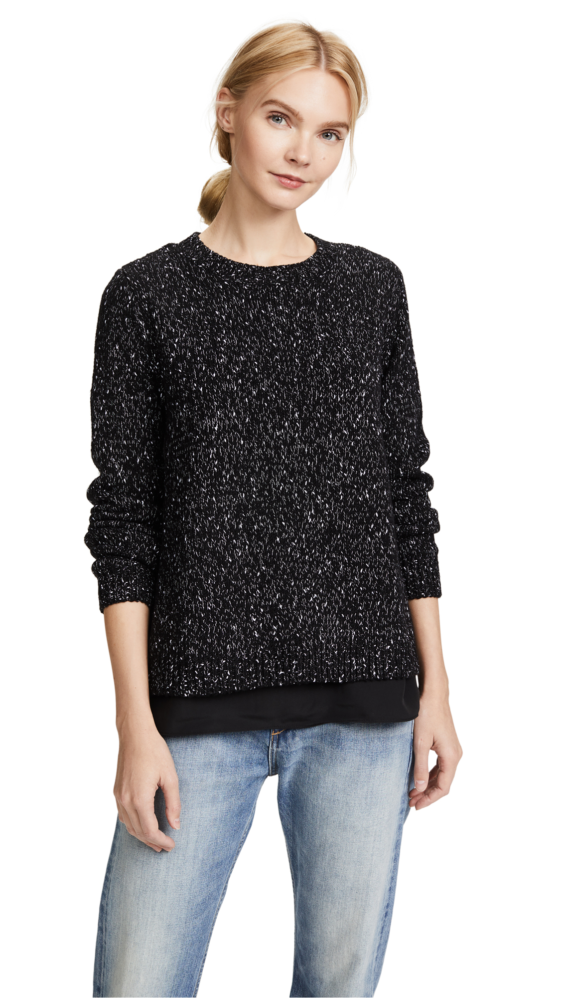Club Monaco Kaelane Sweater - Black Tweed
