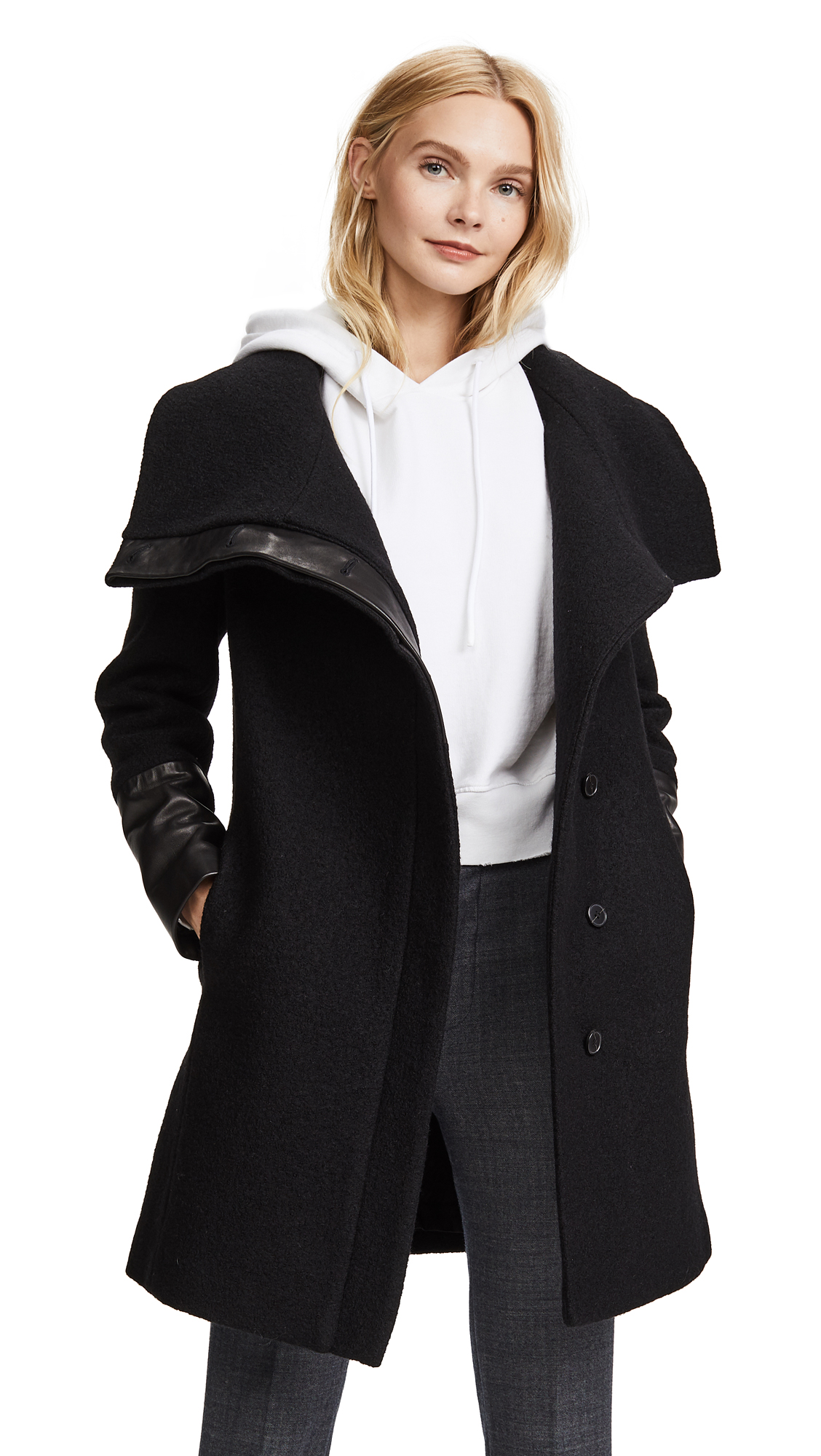 Club Monaco Eldise Coat - Black