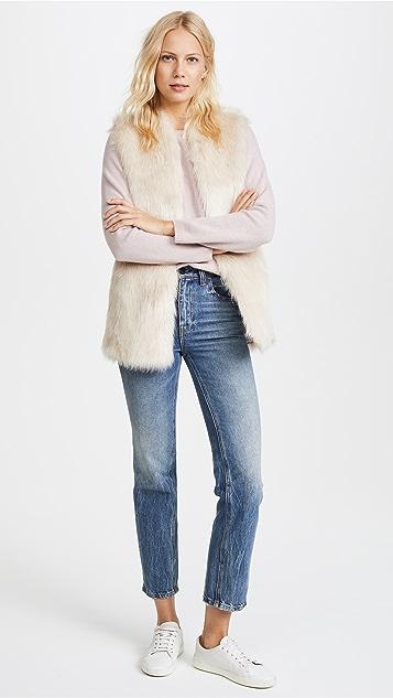 Club Monaco Taisie Faux Fur Vest