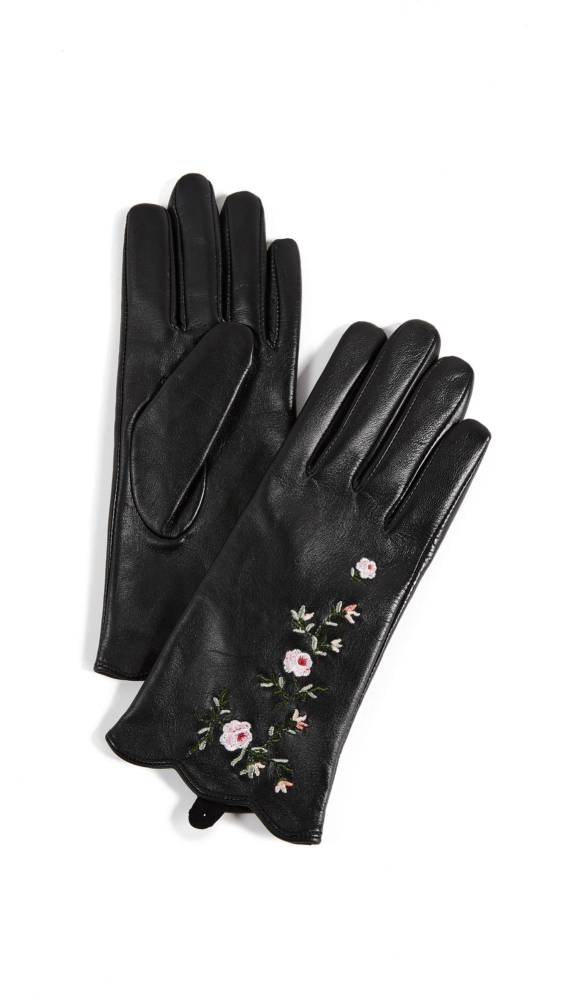 Club Monaco Vidita Leather Gloves