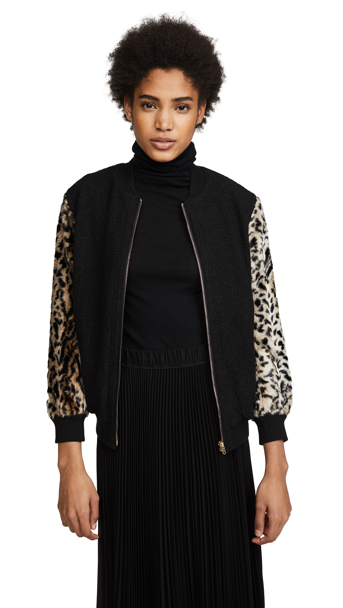 Club Monaco Tay Bomber Jacket - Black Multi