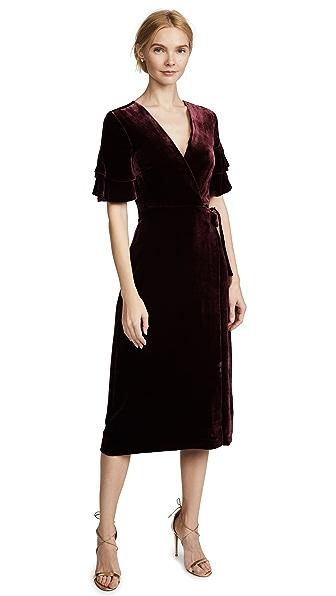 Club Monaco Tay Dress In Dark Cherry