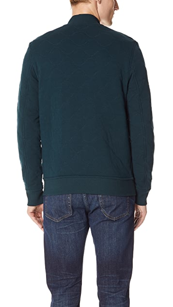 Club Monaco Quilted Knit Bomber Jacket
