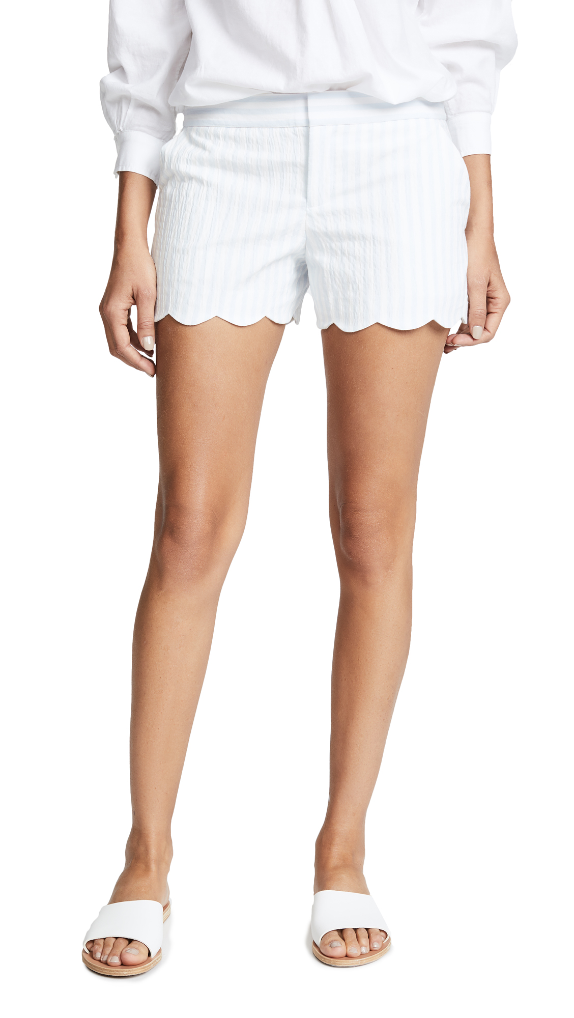 Club Monaco Amber Shorts - White/Blue