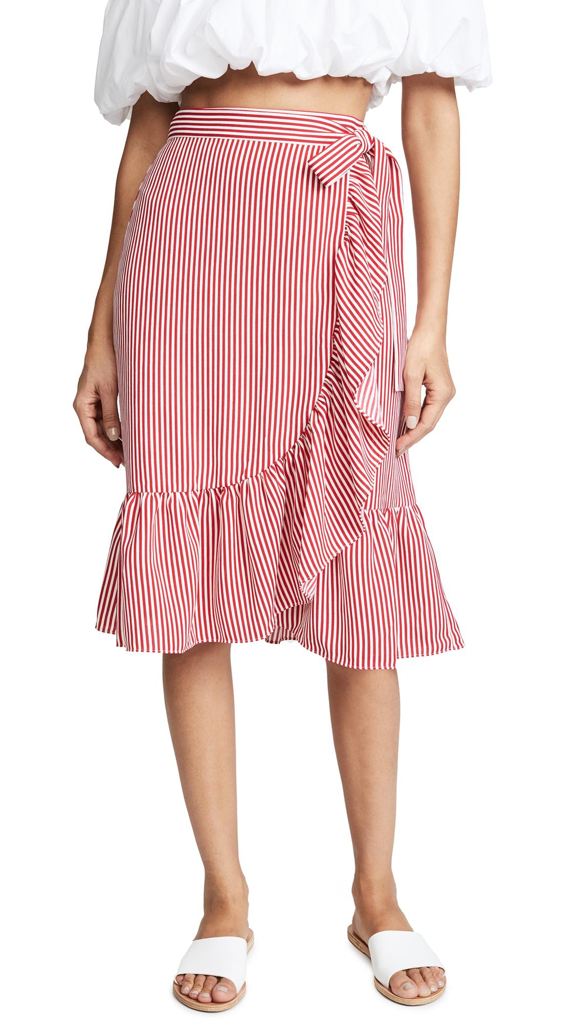 Club Monaco Tedon Skirt In Red/White