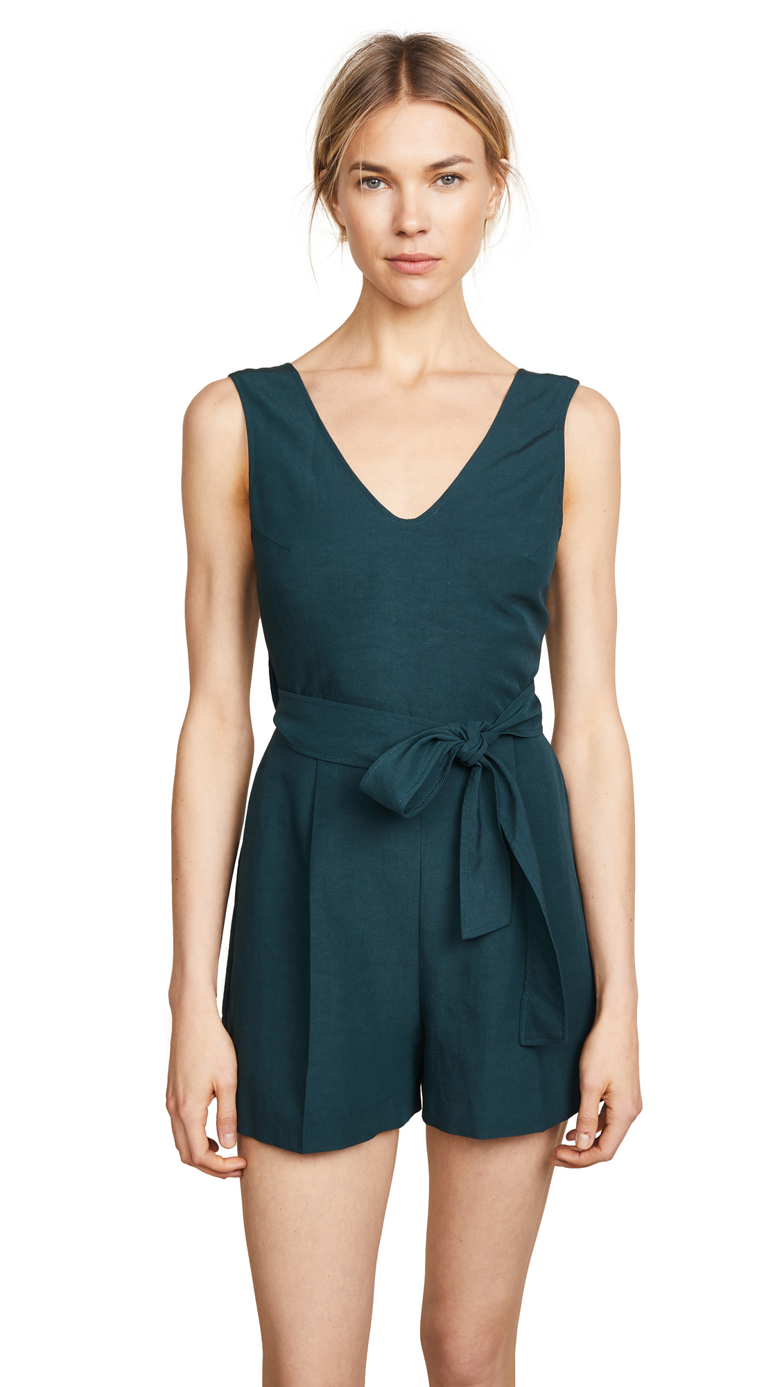 Club Monaco Madria Romper In Palm Green