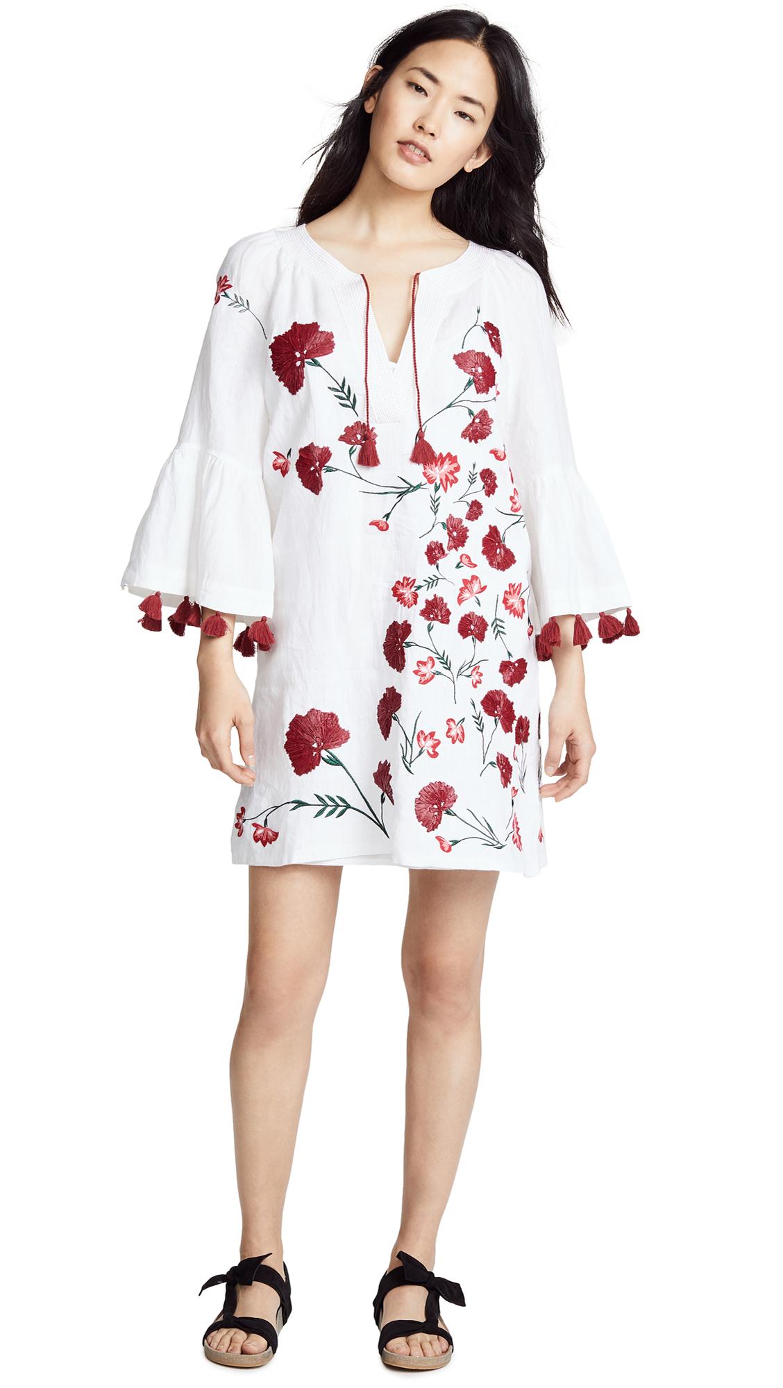 Club Monaco Dulira Dress - White/Red