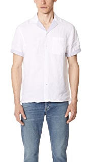 Club Monaco Contrast Trim Linen Shirt