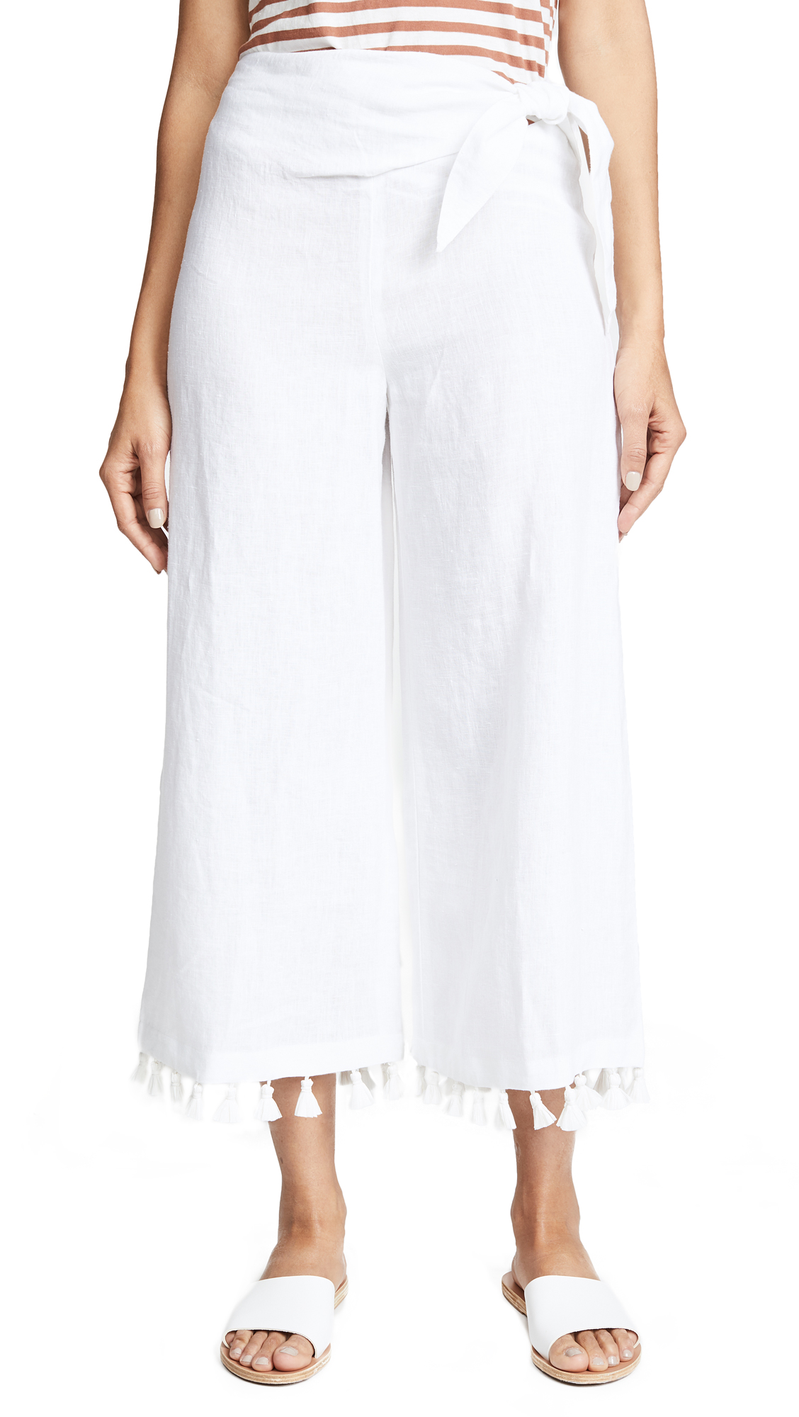 Club Monaco Gaiah Pants - White