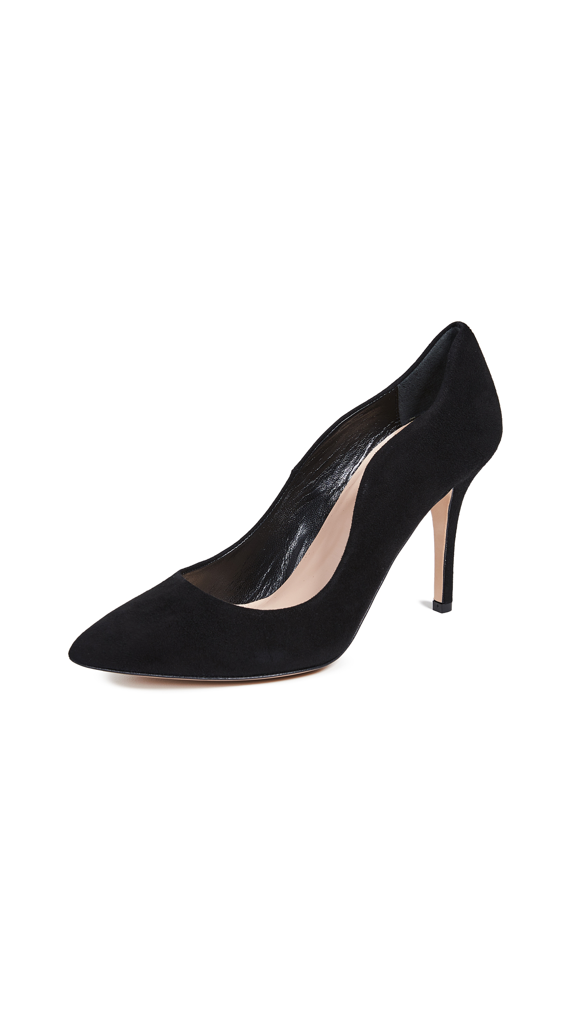 Club Monaco Eveleen Suede Pumps - Black