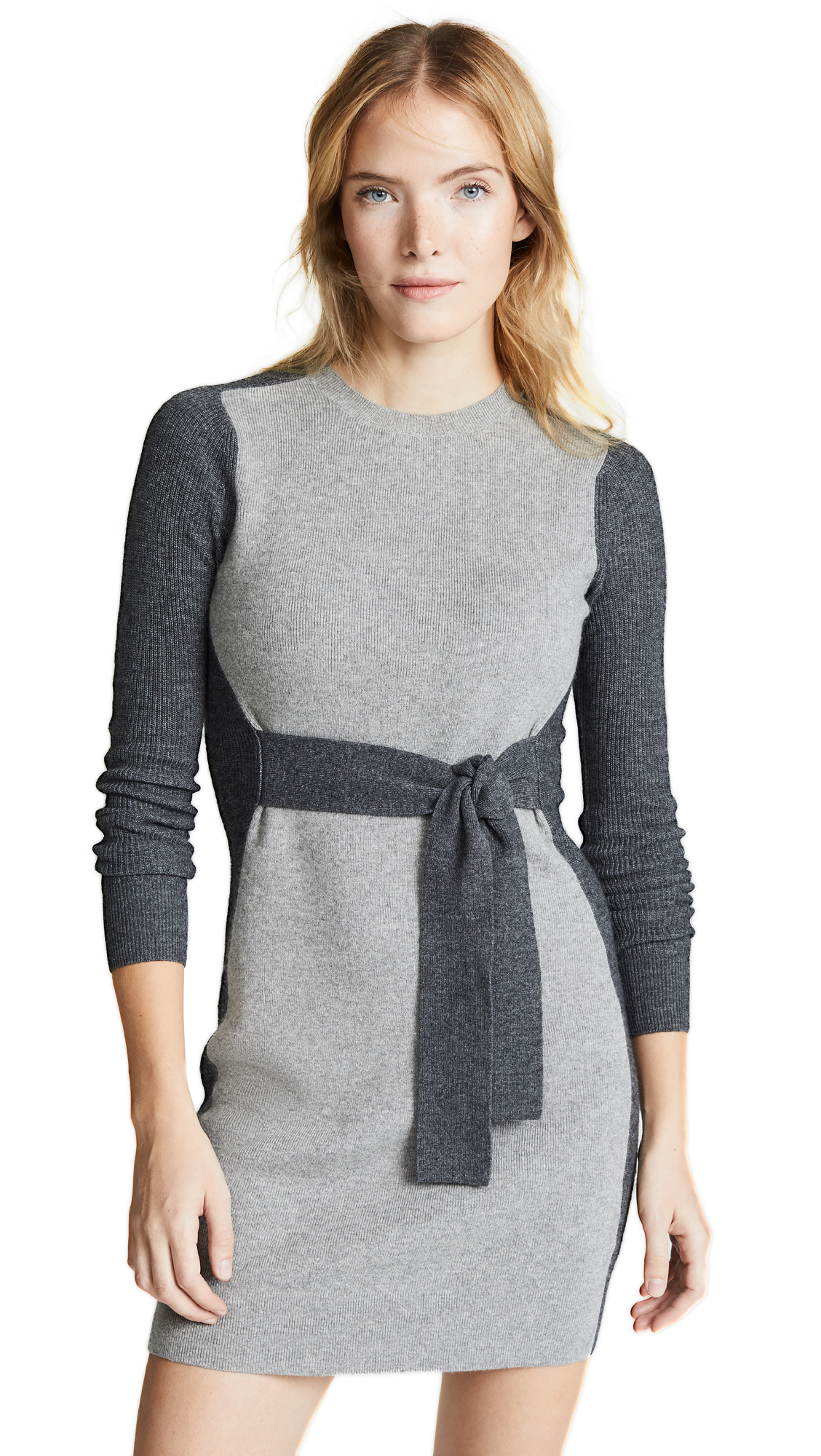 Club Monaco Arnettie Dress - Grey Combo
