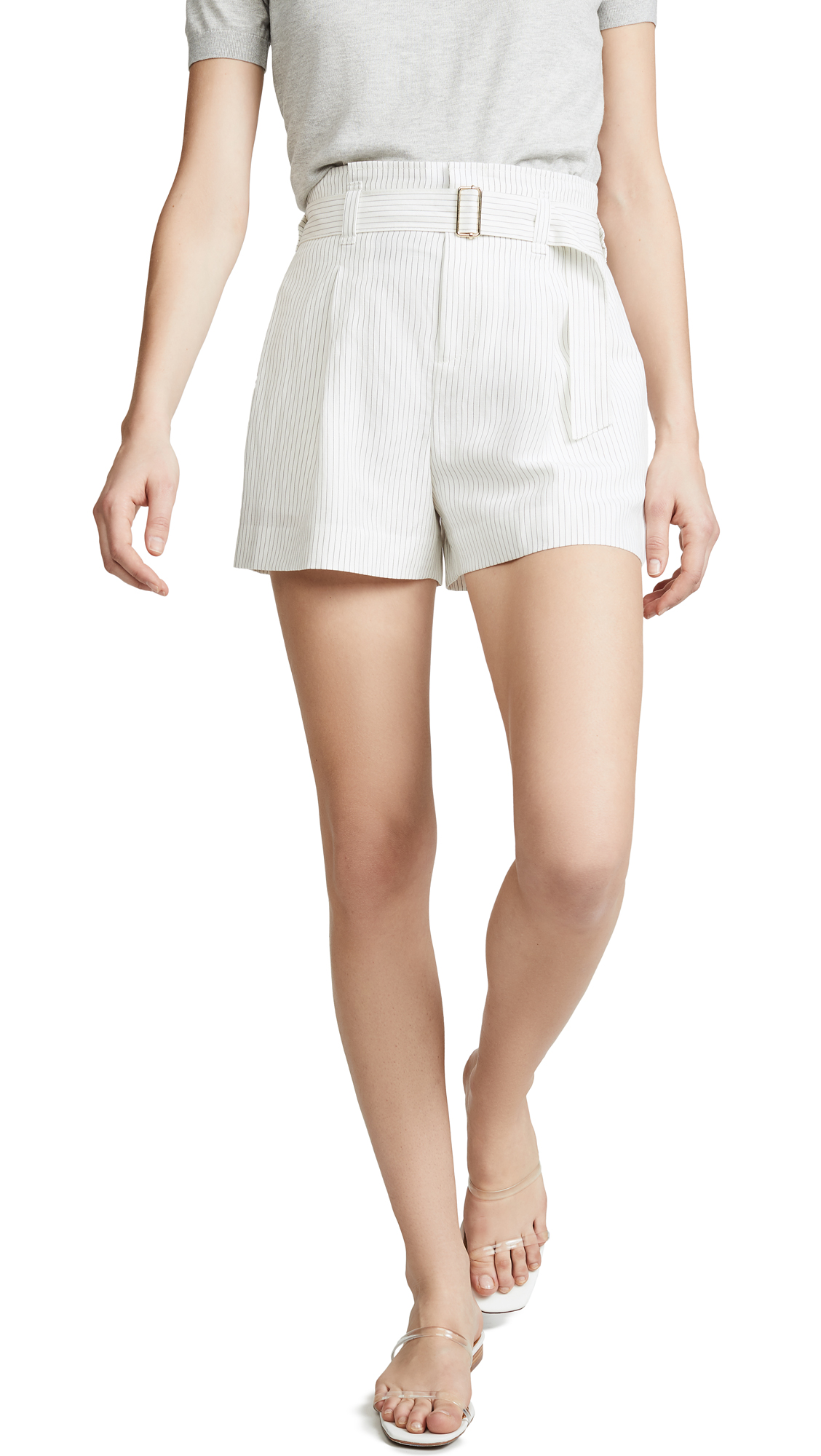 Club Monaco Darcee Stripe Shorts - Black/White
