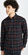 Club Monaco Flannel Check Long Sleeve Shirt