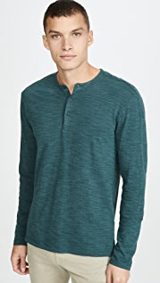 Club Monaco Optic Slub Henley Shirt