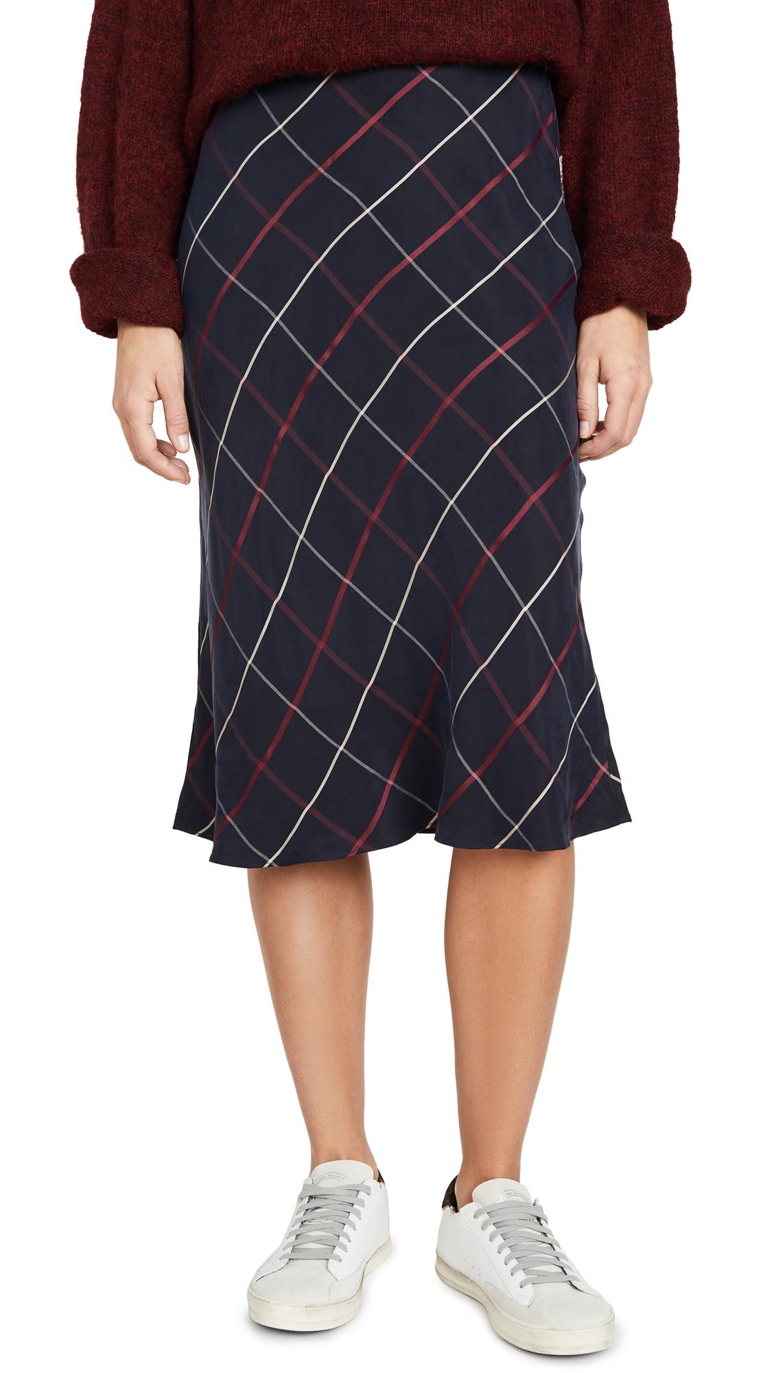 Buy Club Monaco online - photo of Club Monaco Plaid Bias Skirt