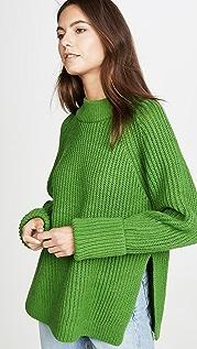 Club Monaco Объемный свитер с округлым вырезом