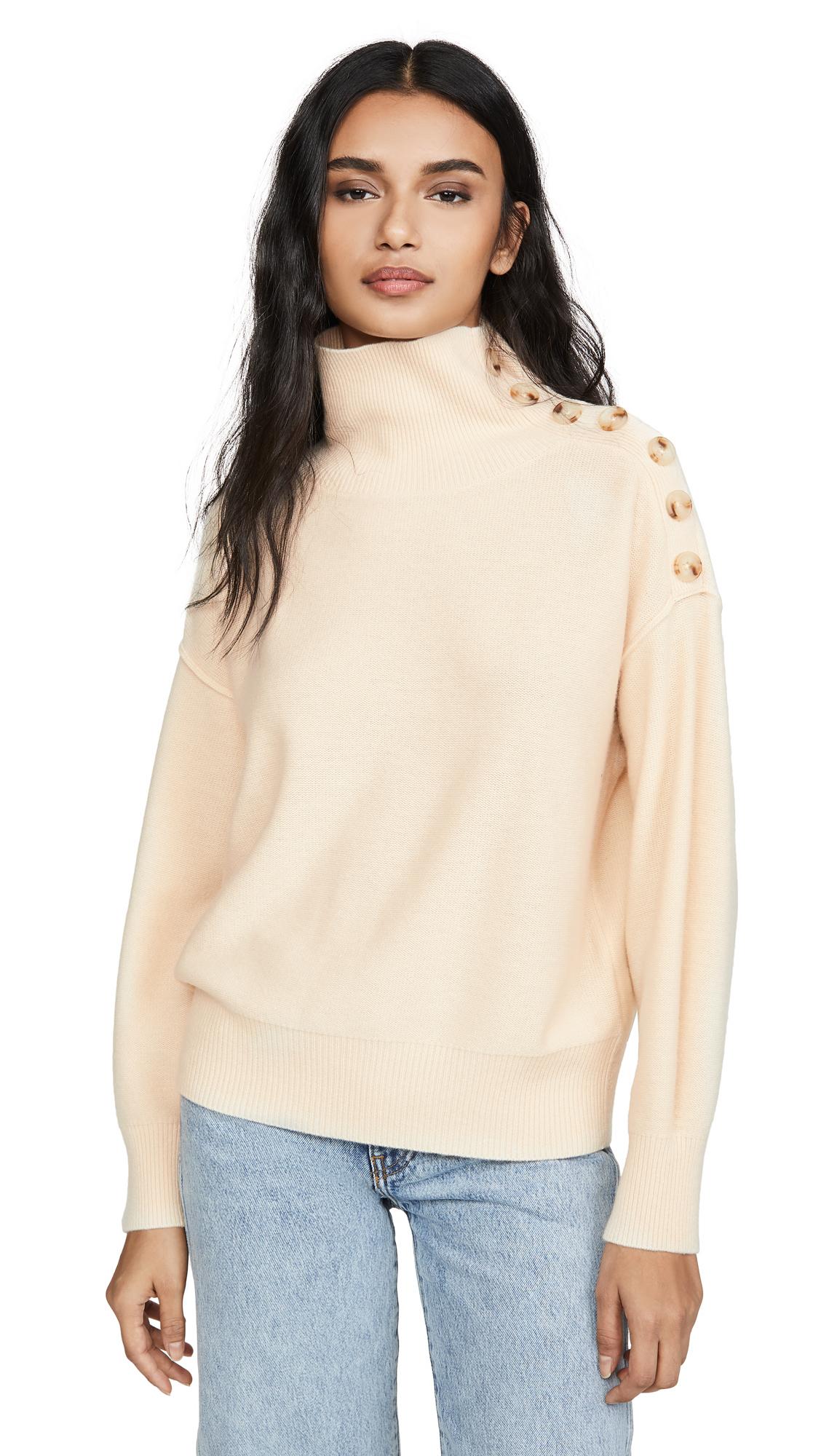 Buy Club Monaco online - photo of Club Monaco Cashmere Button Neck Sweater