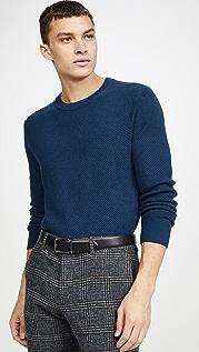 Club Monaco Textured Twill Crew Neck Sweater