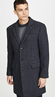 Club Monaco Plaid Topcoat