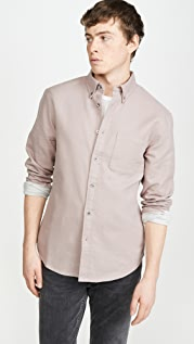 Club Monaco Solid Double Face Button Down
