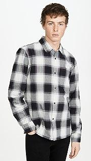 Club Monaco Long Sleeve Ombre Plaid Shirt