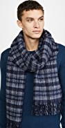 Club Monaco Double Face Check Scarf