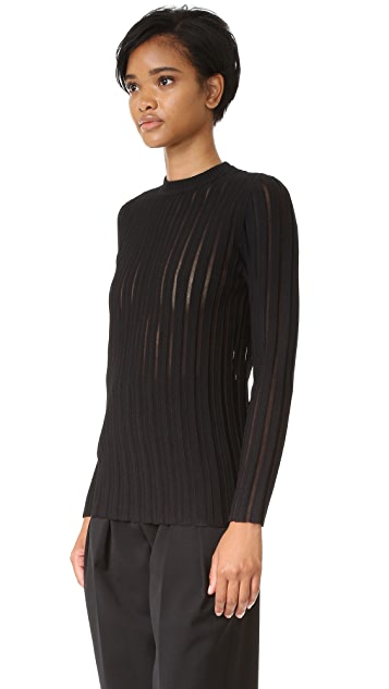 camilla and marc Sheer Stripe Knit Sweater