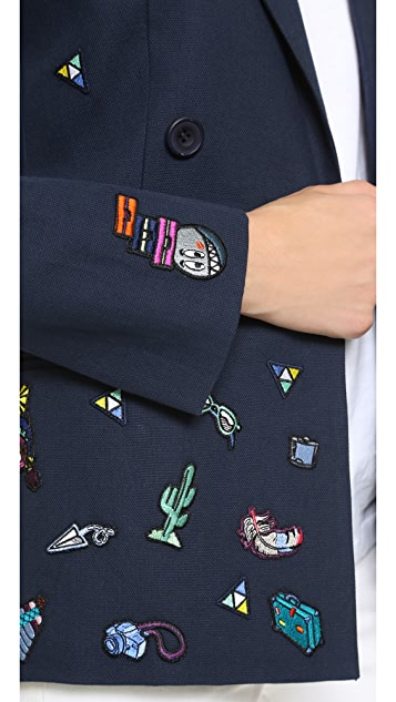Mira Mikati Allover Patches Jacket