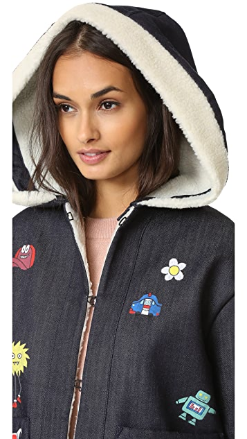 Mira Mikati Handpainted Play More Denim Jacket