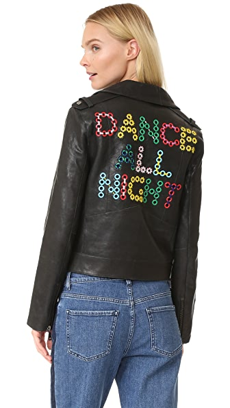 Mira Mikati Dance All Night Leather Jacket