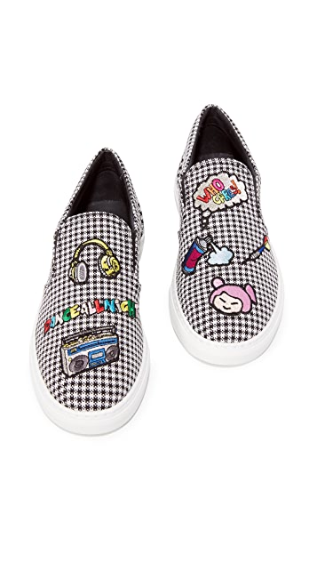 Mira Mikati Houndstooth Slip On Sneakers