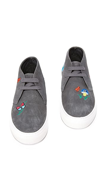 Mira Mikati Embroidered Butterfly Forest Sneakers