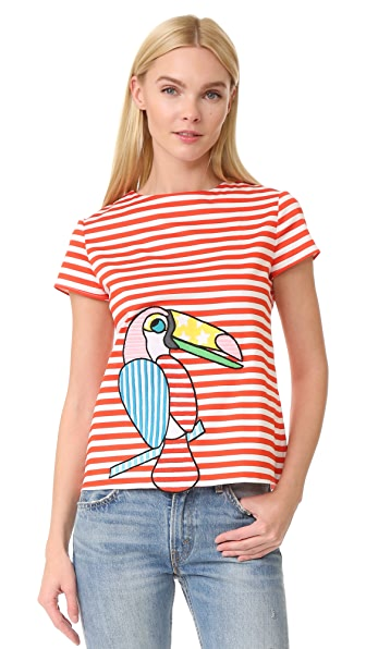 Mira Mikati Toucan Striped Scuba Top